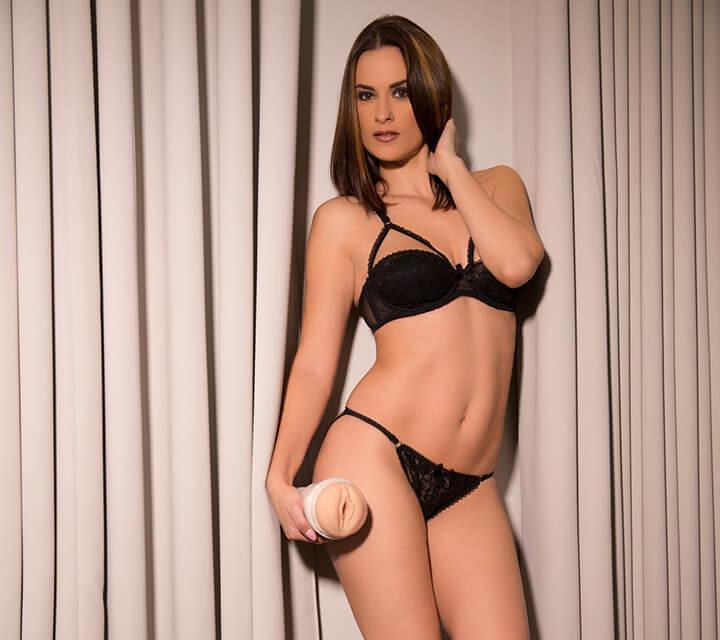 Claire Castel Fleshlight girl standing front porn sex