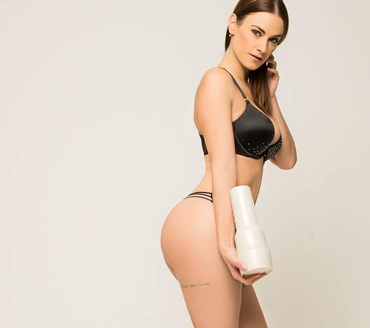 Claire Castel Fleshlight girl standing light background porn sex
